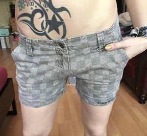 Karierte Jeans Shorts S/M