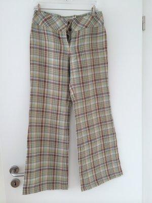 karierte Leinen-Sommerhose - Size 36 - MNG