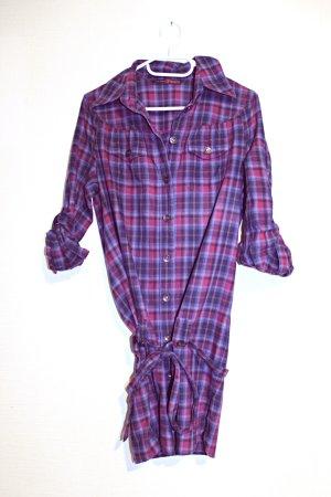 karierte Long-Bluse von Tom Tailor aus 100% Baumwolle