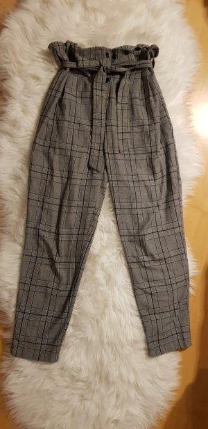 Nasty Gal Pantalon taille haute gris-gris foncé