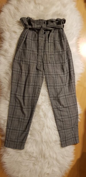 Nasty Gal Pantalón de cintura alta gris-gris oscuro