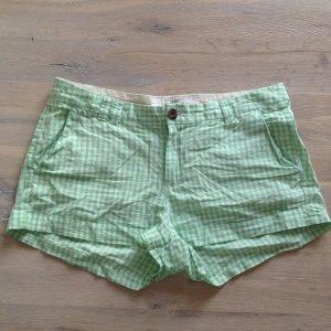 Karierte Shorts grün