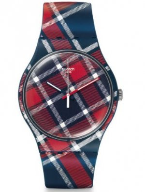 Karierte Swatch Armbanduhr Color-Kilt