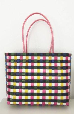 Karierte Tasche / Strandtasche / Handtasche / Korbtasche