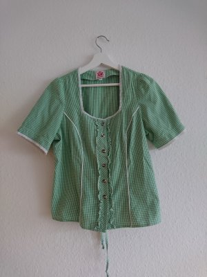 Spieth & Wensky Traditional Blouse white-green