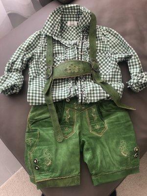 Spieht & Wensky Camisa folclórica verde hierba