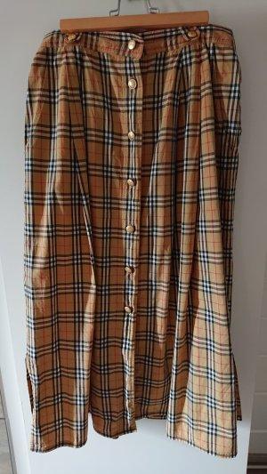 Burberry Midi Skirt black-sand brown