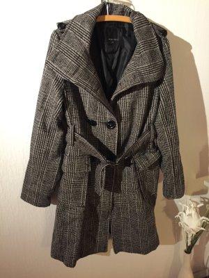 Karierter Mantel in schwarz grau