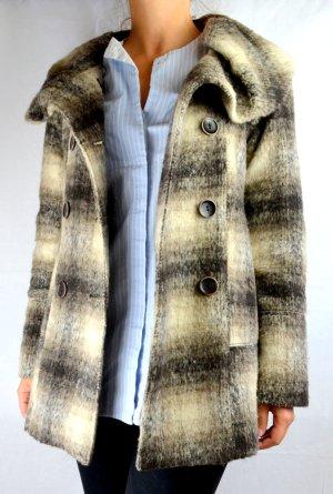 Karierter Mantel mit Wickelkragen Gr.32-34