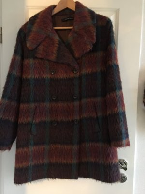 Heavy Pea Coat multicolored wool