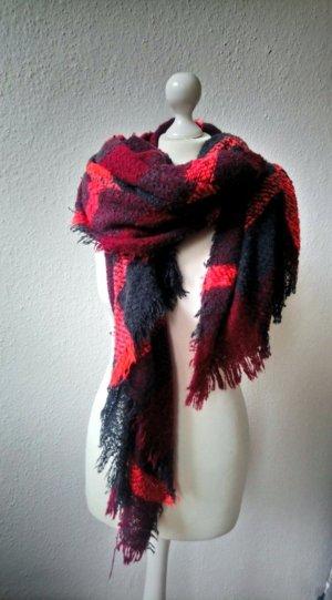 Karierter Maxi-Schal mit Fransen