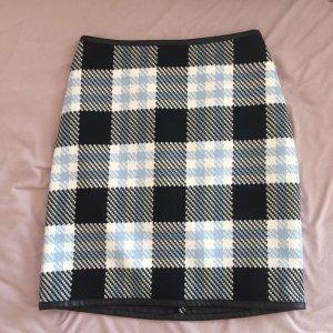 Jupe taille haute multicolore coton