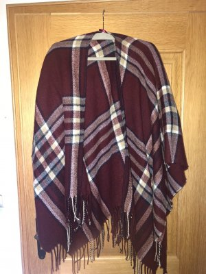C&A Poncho bordeaux-brown red