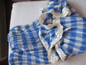 Karierter Schal mit Spitzendetails