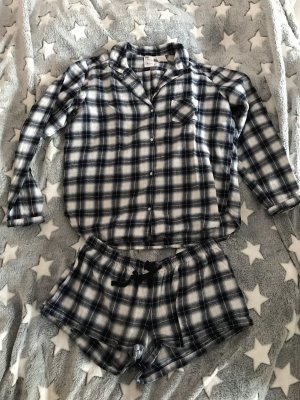 H&M Pyjama donkerblauw-wit