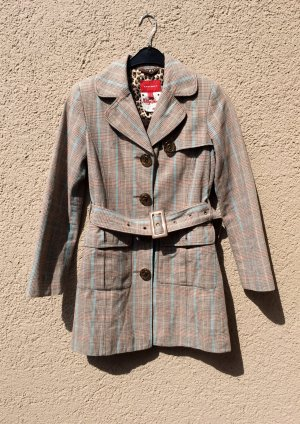 Karierter Tweed Mantel von Mexx Trenchcoat