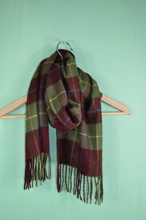 Karierter Vintage Herbst Schal mit Fransen