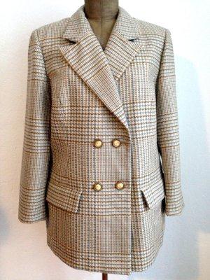 Karierter Vintage Wollblazer, passt Gr. 40-44