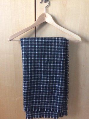 Zara Bufanda de lana blanco-negro Se retiró la etiqueta de material