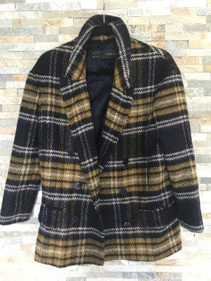 Karierter Wollmantel von Zara in xs