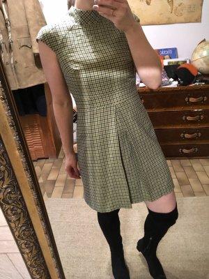 Ellen Eisemann Vestido de lana verde pálido-azul oscuro