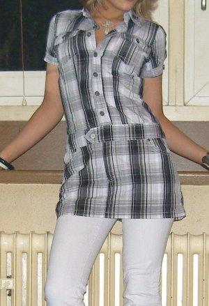 Kariertes Blusenkleid mit Rockteil von Fishbone, Gr. XS