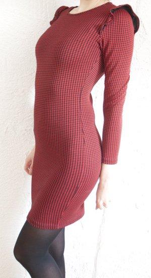 Kariertes Bodycon Kleid von Mango XS NEU