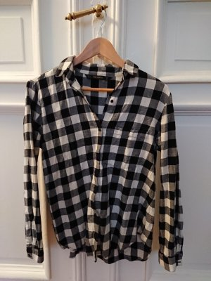 Zara Basic Camicia di flanella nero-bianco