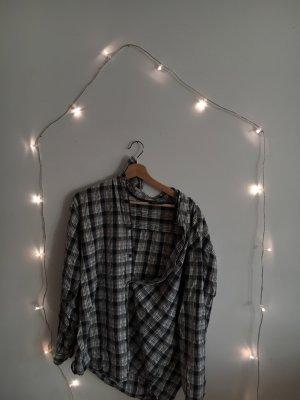 Flannel Shirt white-black
