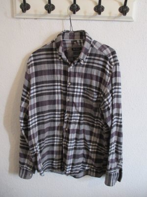 Kariertes graues Flanellhemd im Vintage Look