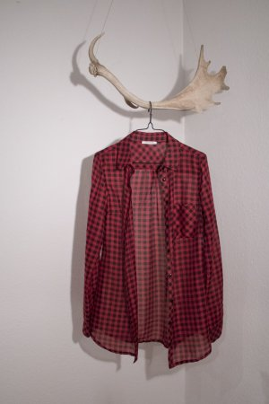 Promod Chemise à manches longues rouge-noir