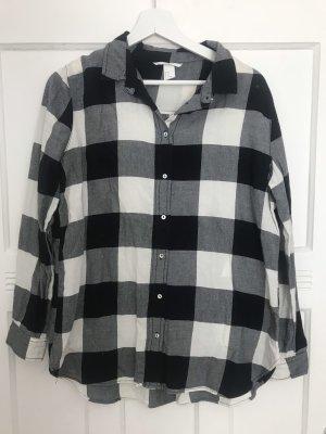 H&M Chemise de bûcheron noir-blanc