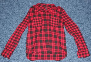 8 Shirt met lange mouwen zwart-rood