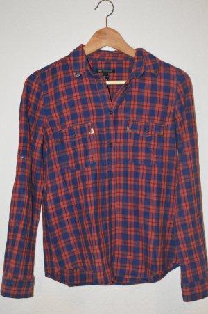 Mango Camisa de vestir azul-rojo