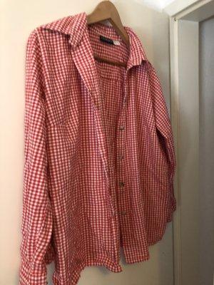 Kariertes Hemd / rot weiß /Größe 42