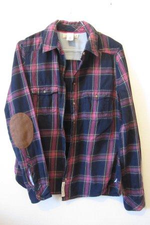 H&M L.O.G.G. Shirt met lange mouwen donkerblauw-roze Katoen