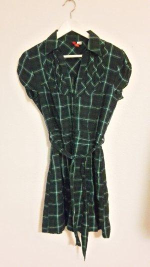 Kariertes HemdKleid zum Knöpfen