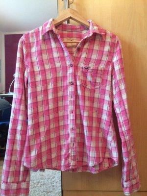 Kariertes Hollister Hemd in rosa