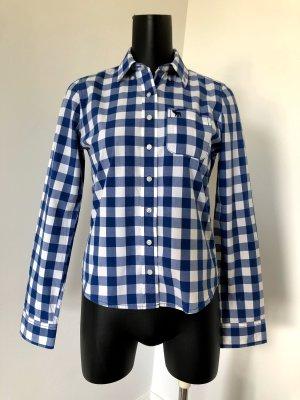 Abercrombie & Fitch Houthakkershemd wit-blauw Katoen