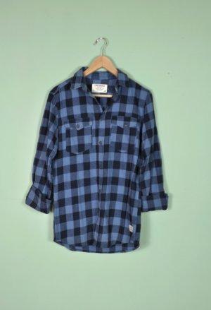 Jack & Jones Camisa de leñador negro-azul oscuro