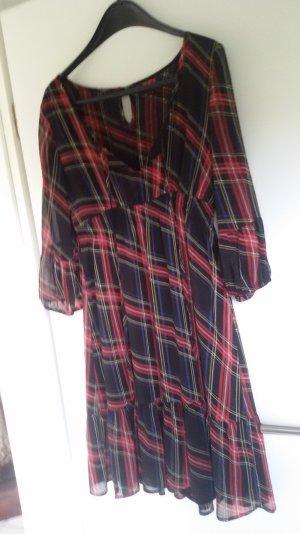 kariertes Kleid in A-Linien Form