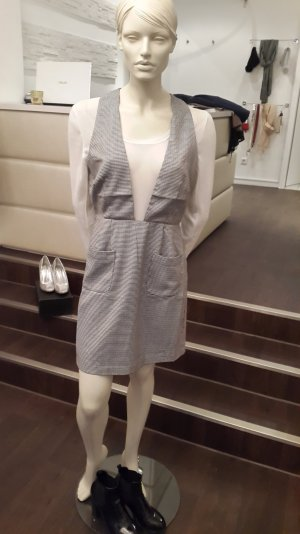 Kariertes Kleid in hellgrau/weiß/schwarz Deby Debo Gr.M