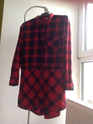 kariertes Kleid Karohemd Stil Grunge 90er Neunziger