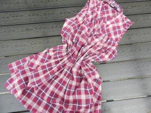 Kariertes Kleid - Longbluse - M