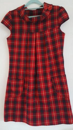 Babydoll Dress brick red-black mixture fibre