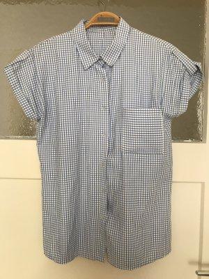 Camicia a maniche corte bianco-azzurro