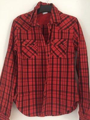 Levi's Chemise à manches longues rouge fluo-noir
