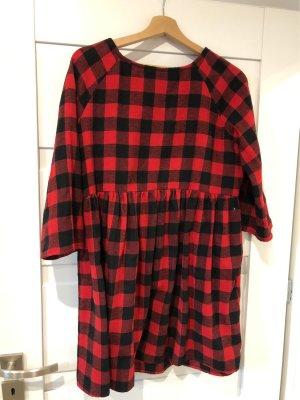 Sweat Dress black-red