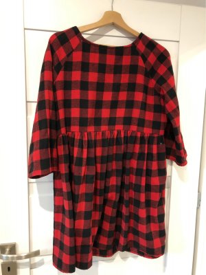 Robe Sweat noir-rouge