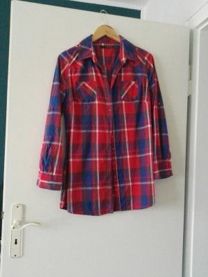 Atmosphere Oversized blouse rood-blauw